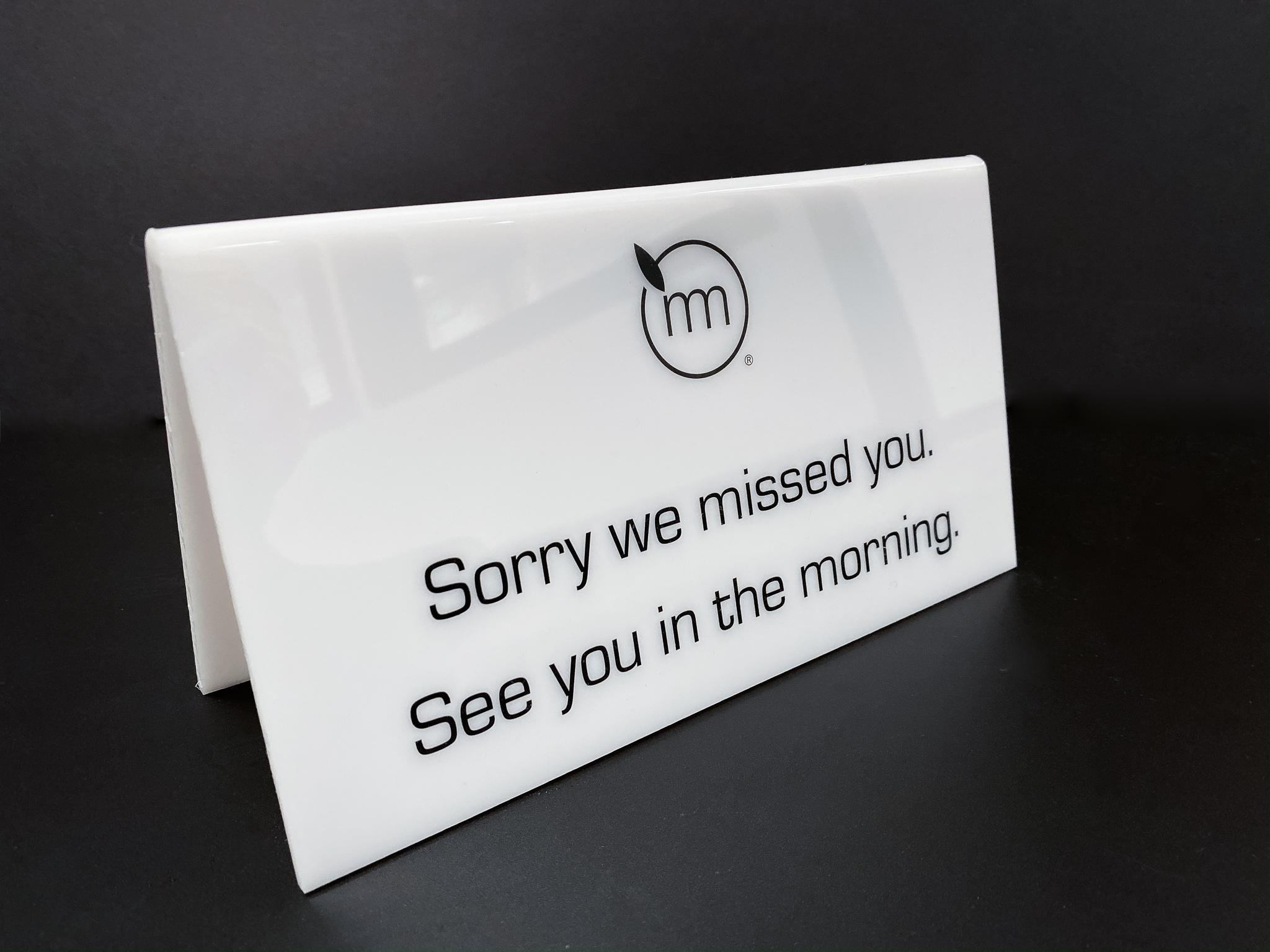 Acrylic displays sign