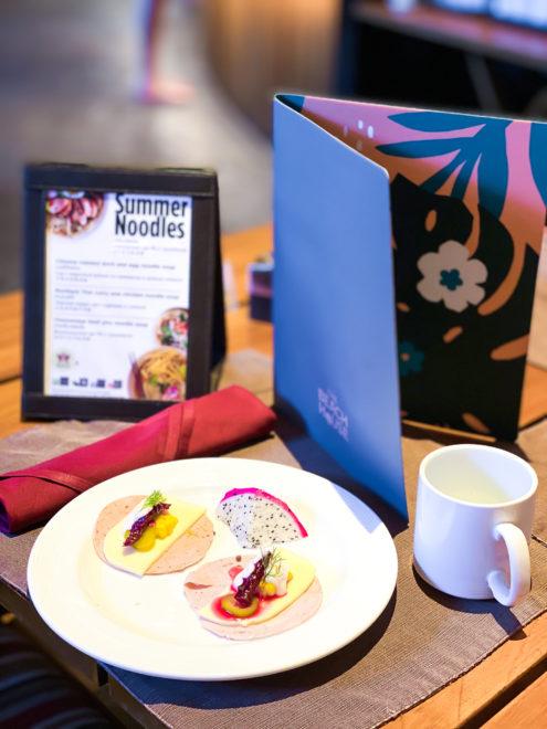 Colorful waterproof menu for cafe