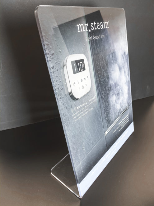 Custom acrylic display with design service