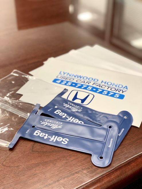 Vinyl envelop products with logo