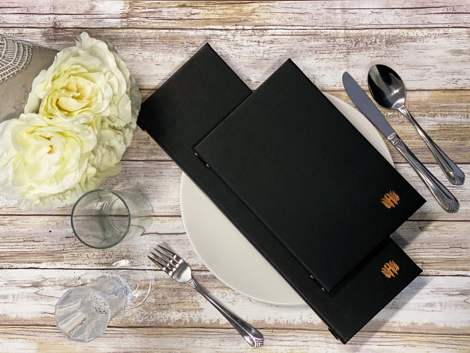 Elegant menu covers