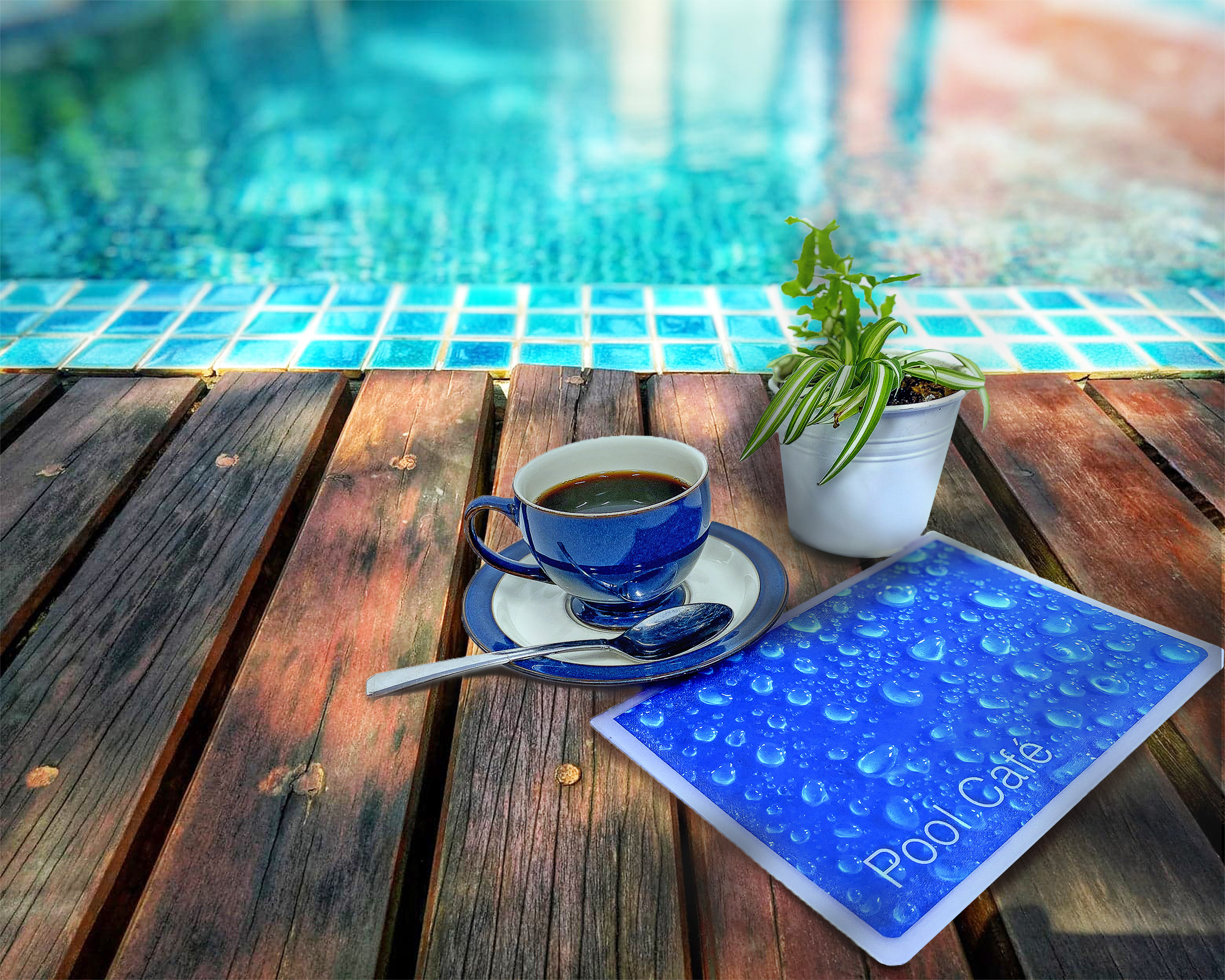 Pool menu and coffee