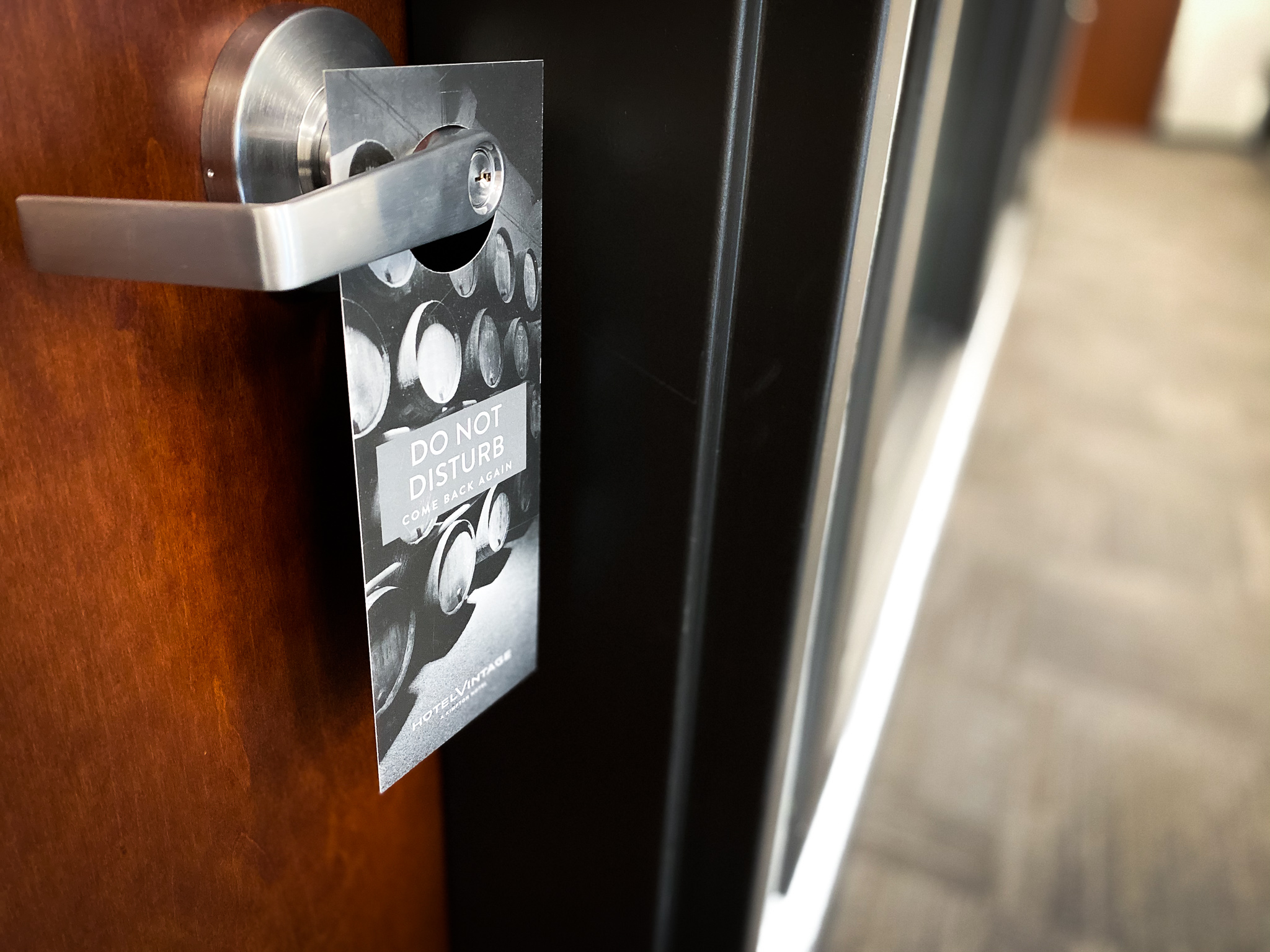 Door hang tag for hotels