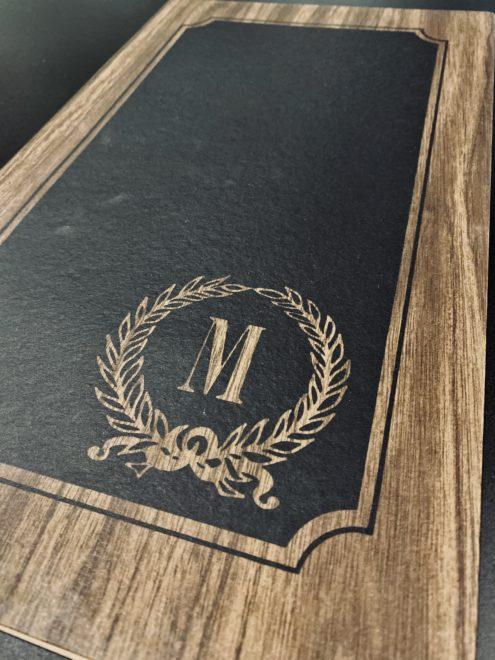 waterproof menu covers design