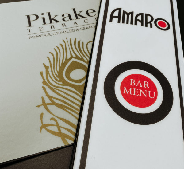 waterproof menu covers with cover logo