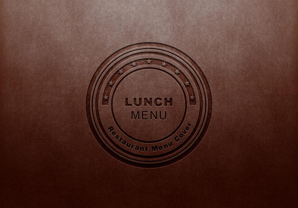 Lunch menu debossing