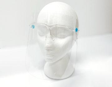 Glass face shield